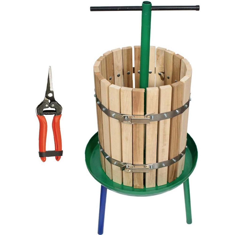 Presa struguri din lemn pentru un vin de calitate