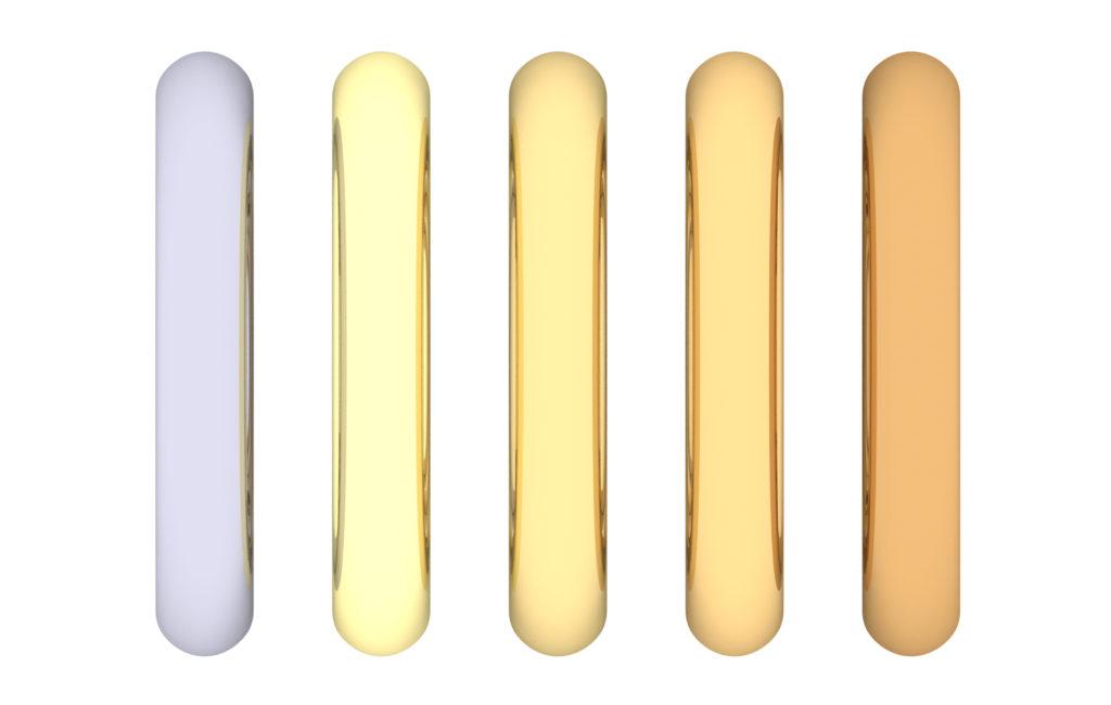 De cate culori este aurul de 14 karate?